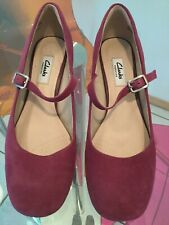 """Clarks Shoes Narrative """"chinaberry Pop""""size 5.5 D Width Rrp £55"""