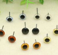 12 Pairs of Pale Light Amber glass eyes Needle Felting 5mm Cats Taxidermy Bears