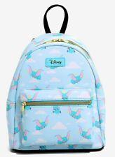 Loungefly Disney Dumbo Flying Clouds Mini Light Blue Backpack Bag NWT