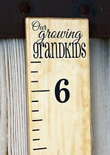 DIY Vinyl Growth Chart Ruler Decal Kit - Large # style, Our Growing Grandkids