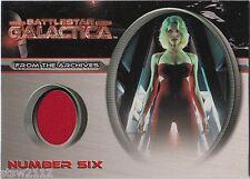 BATTLESTAR GALACTICA PREMIERE CC1 TRICIA HELFER NUMBER SIX COSTUME CARD