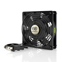 """120mm 25mm Cooling Muffin Fan 115 V AC 2 Ball Bearing LOW SPEED 5"""" (LS1225A-X)"""