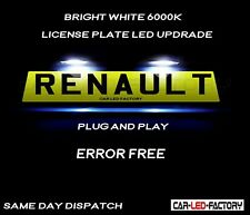 Fit RENAULT SCENIC MK II 2003-09 White LED Number Plate Light Bulbs PLUG & PLAY