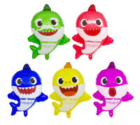 "5pc Baby Shark Family Helium Foil Balloons (22"") Kids Birthday Party Decorations"