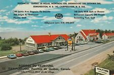 """*Canada Postcard-""""Auberge du Faubourg...Famous Sculptures on Wood of Bourgault"""""""