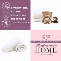 Baby Cot Bed Bedding Set Anti Allergy Duvet Quilt + Pillow Kids Nursery Junior
