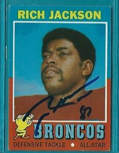 RICH JACKSON signed 1971 Topps football card #81 DENVER BRONCOS