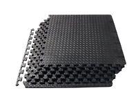 ProSource fs-1908-pzzl Puzzle Exercise Mat EVA Foam Interlocking Tiles (Black,
