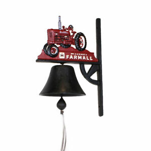 Farmall H Cast Iron Tractor Bell with Bracket  RHY-1