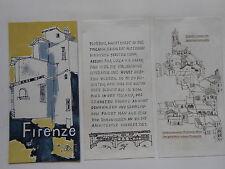 FLORENZ Firenze Toskana  Aquarell Bleistiftzeichnung Tuschezeichnung um 1950