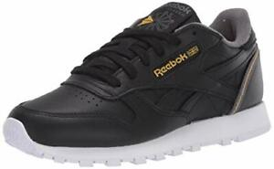 Reebok Men's Classic Leather Sneaker, Black, Size 9.5 UcBX
