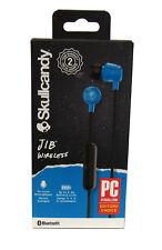 Skull Candy Jib Wireless Earbuds w/ Mic, Hands-Free Calling & 33' Range, Blue
