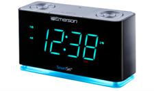Emerson SmartSet Alarm Clock Radio w/ Light Bluetooth Speaker Charging ER100301