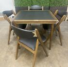 VTG Modern Mid Century Norquist Coronet Wonderfold Table & Chairs Poker Table