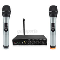 Wireless bluetooth Professional Microphone UHF 2 Channel Dual Karaoke Mic System