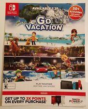 Go Vacation Promo Gamestop Poster. Rare.
