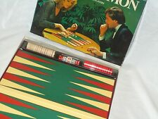 Retro Backgammon Traditional Board Game In Very Good Condition/Good Film Tv Prop