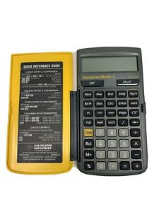 Construction Master 5 Calculator - Model 4050 - Yellow Pre Owned