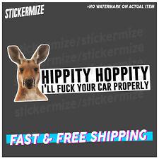 HIPPITY HOPPITY Sticker Decal Funny 4x4 4WD Kanagaroo Mud Bush Skip Car Ute