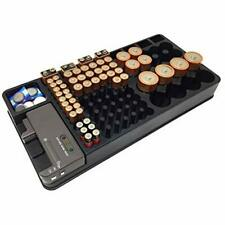 Battery Organizer Storage Case With Tester - Holder For Up 110 Aaa 9V And D Size