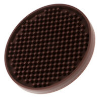 Round Drink Coasters Soft Silicone Cup Holder Mat Tableware Placemat Brown