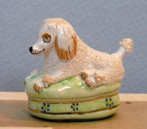 Vintage Dollhouse Miniature Staffordshire Poodle by Artist Basil Matthews P326