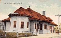 CRAWFORDSVILLE INDIANA~BIG FOUR RAILROAD DEPOT POSTCARD 1910s