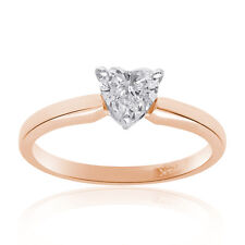 0.50 Carat Heart Shape Engagement Ring Solitaire 14k Rose Gold