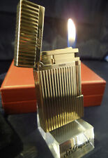 S. T. Dupont Line 2 Lighter - Vertical Lines - Gold Plated - Cased/Papers
