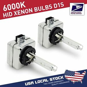 D1S 6000K Blue HID Xenon Headlight Light Bulbs OEM Replacement For BMW Audi VW