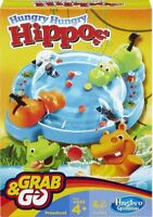 Official Hungry Hungry Hippos Grab & Go Hasbro Travel Game