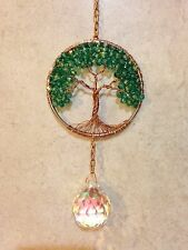 Crystal Jade Sun Catcher Tree Of Life,Gemstone Crystal Window Suncatcher