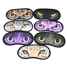 1PC Home Travel Animal Cat Owl Sleeping Eye Mask Sleep Eye-shade Cover Blindfold