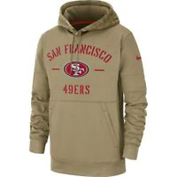 Nike 2019 Salute To Service San Francisco 49ers Sideline Therma Pullover Hoodie
