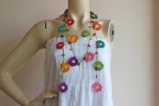 Crochet Beaded Necklace-Turkish Oya necklace with Star Naturel Stone-Daisy Scarf