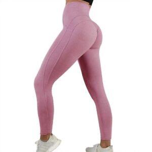 Women Push Up Yoga Leggings Workout High Waist Gym Sports Pants Running Trousers