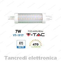 Lampadina led V-TAC 7W = 40W R7S bianco freddo 6400K VT-1917 SMD tubolare faro