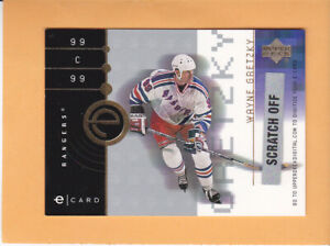 2001 UPPER DECK #NNO WAYNE GRETZKY E CARD UNSCRATCHED NEW YORK RANGERS