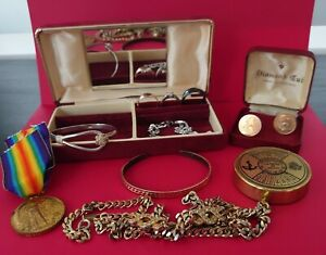 Vintage Gold Silver Hallmarked Jewellery House Clearance Job Lot
