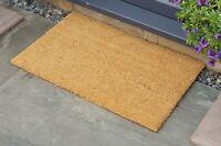 Coir Entrance Door Mat - Outdoor / Indoor - 40cm x 60cm - Lifts Dirt From Shoes