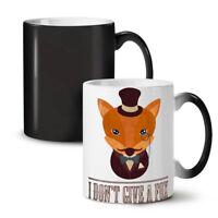 I don't give a fox Funny NEW Colour Changing Tea Coffee Mug 11 oz | Wellcoda