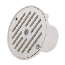 Universal Swimming Pool Floor Drain Round SP-1424 Water Pipe Fittings white