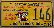 "Illinois 2006 ""Dupage County Fair"" USA Number License Plate American Cow 146"