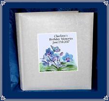 Birthday Memories tissue interleaved Photo album personalised gift Present  7
