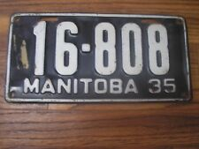 1935 Manitoba Canada 83 year old License Plate 16-808