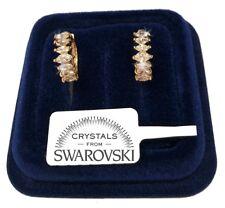 Orecchini Cerchio piccolo donna pl. oro Giallo 18K con cristalli swarovski SW/27