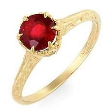 Estate ring 1.2ct natural ruby solitare 14k gold