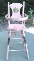 Chaise haute de poupée pliable