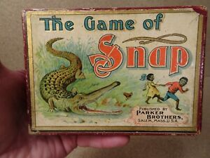 Vintage Parker Brothers Snap Card Game Complete with Original Instructions