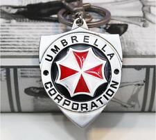 Resident Evil Umbrella Corporation Logo Metal Keychain Key Ring Pendant LS34357